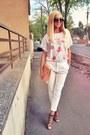 Brown-zara-shoes-bubble-gum-cupcake-diva-charms-shirt-nude-peach-vintage-bag