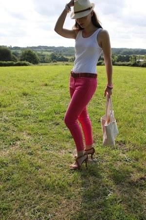 Zara jeans - Zara heels - Petit Bateau top