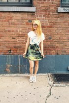 green vintage tropical dress - my little pony shirt