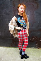 nastygal top - Forever21 shirt - Topshop pants