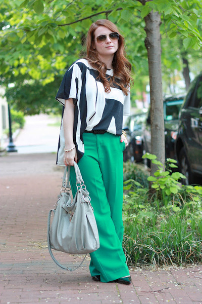 Forever 21 pants - asos shirt - Yesstyle purse - Nine West pumps