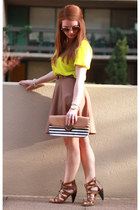 Francescas Collections bag - Forever 21 skirt - Jcrew t-shirt - Target heels