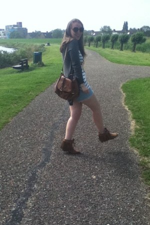 H&M bag - vintage shorts - H&M sunglasses - River Island cardigan - H&M t-shirt