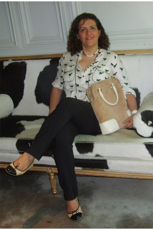 Bossini leggings - loewe bag - Petit Maison blouse - Pretty Ballerinas flats - M