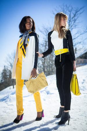 Zara coat - G-Star jeans - Sisley sweater - Camaïeu scarf - Zara shorts