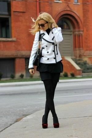 JCrew coat - calvin klein bag - Zara skirt