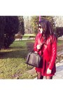 Ruby-red-stradivarius-dress-red-faux-leather-stradivarius-jacket