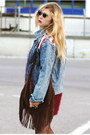 Black-modekungen-boots-sky-blue-denim-jacket-modekungen-jacket