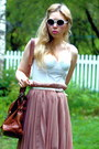 Bubble-gum-pleated-monki-skirt-white-bustier-h-m-intimate