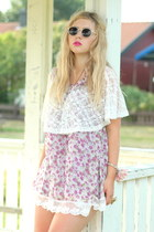 light pink flower asian icandy dress