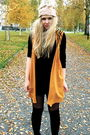 Orange-monki-vest-black-h-m-blouse-pink-bikbok-hat-black-second-hand-boots