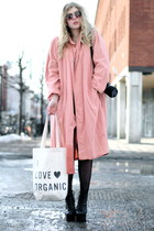 salmon moms vintage coat