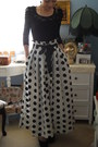 Polka-dot-skirt-lace-top