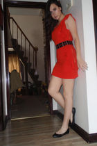 red dress - black from Target shoes - black River Island belt