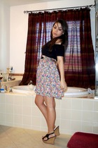pink Wrapper skirt - black American Apparel dress - Styluxe shoes - silver Forev