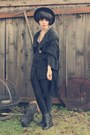 Periwinkle-xxi-forever-dress-black-unknown-vest-black-urban-outfitters-belt