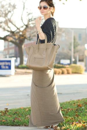 dark khaki Helmut Lang skirt - beige Reed Krakoff shoes