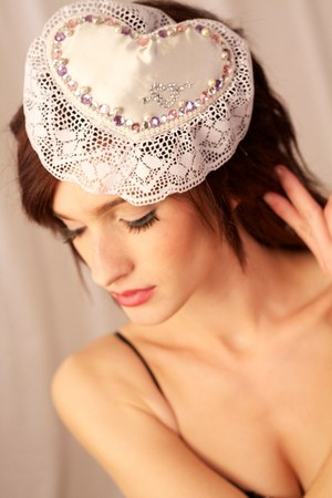 lace Amber Arden hat - pearls accessories - jewels accessories