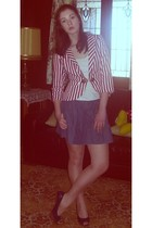 Sunny Girl blazer - Dotti skirt - Target Australia top - Lipstik shoes