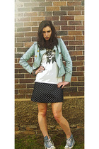 Sportsgirl jacket - Sass and Bide top - DIY dress - Converse shoes - Sportsgirl