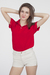 red American Apparel shirt - beige American Apparel shorts