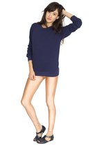 blue American Apparel sweater - beige American Apparel leggings