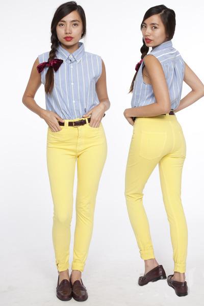 American Apparel top - yellow American Apparel pants