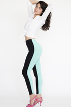 white American Apparel shirt - black American Apparel leggings