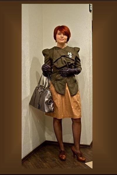 Lisa Jayne Dann jacket - H&M skirt - vivienne westwood shoes - YSL purse - Topsh