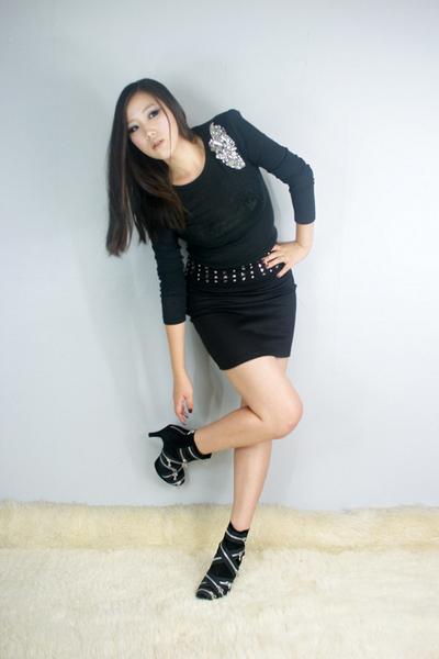 black style2bb3 top - black style2bb3 shoes - black style2bb3 skirt