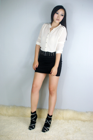 style2bb3 blouse - style2bb3 skirt - style2bb3 shoes - style2bb3 blazer