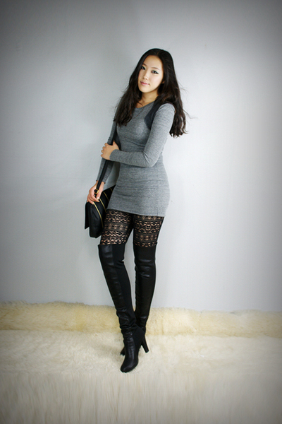 style2bb3 dress - style2bb3 leggings - style2bb3 shoes - style2bb3 purse