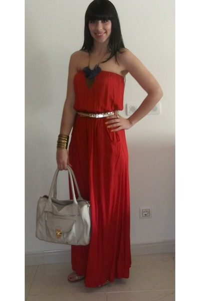 Primark dress - Primark bag - Promod necklace