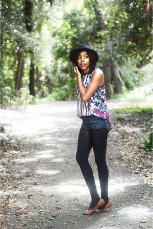 Mossimo hat - H&M shorts - merona flats - Mossimo top