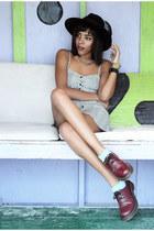 Dr Martens shoes - H&M dress - asos hat