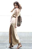 camel linen Let them stare dress