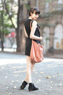 Mango-boots-let-them-stare-dress-zara-bag