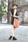 Mango-boots-let-them-stare-dress-zara-bag