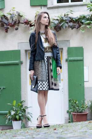 D&G dress - Zara jacket - H&M bag - Zara heels