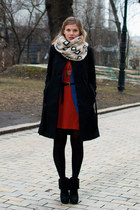 Mango coat - ASH boots - River Island dress - asos cardigan