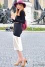 Ivory-forever-21-skirt