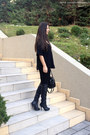 Black-stradivarius-boots-black-h-m-bag-black-zara-pants