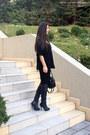 Black-stradivarius-boots-black-h-m-bag-black-zara-pants