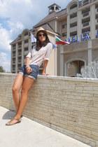 New Yorker hat - shirt - H&M sunglasses - Marc OPolo sandals
