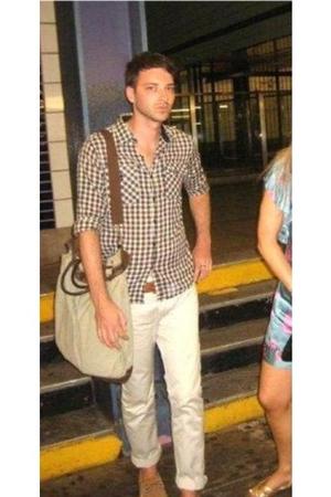 vintage shirt - vintage belt - Diesel pants - sperry shoes - purse