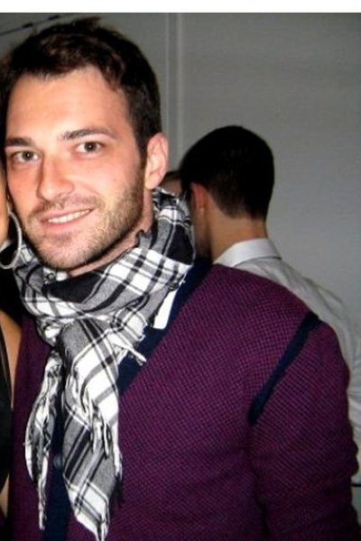 purple Marc Jacobs sweater - white H&M scarf