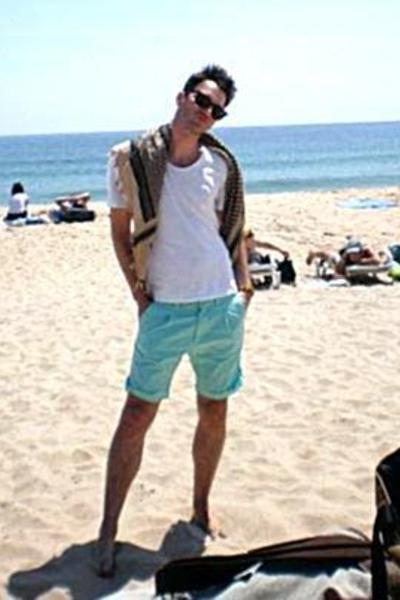 Urban Outfitters scarf - Shades of Greige t-shirt - H&M shorts - Ray Ban sunglas