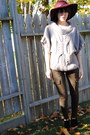 Crimson-hat-heather-gray-generra-sweater-olive-green-j-brand-pants
