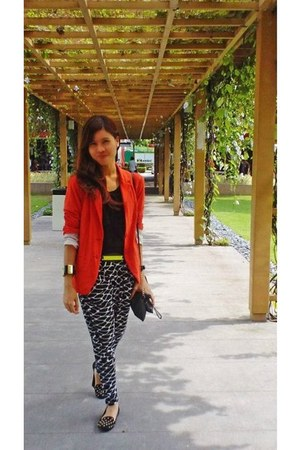 sm department store blazer - AeanKli top - AeanKli pants - Forever 21 flats