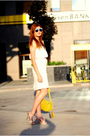 cream Local store sandals - yellow Local store bag - white HiFASHION blouse